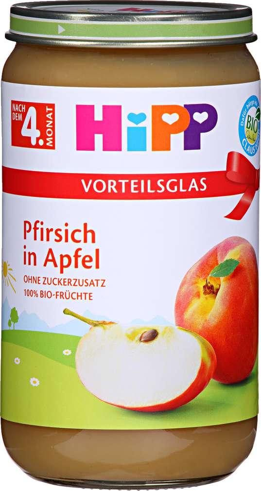 Abbildung des Sortimentsartikels Hipp Pfirsich in Apfel 250g
