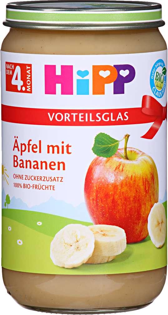 Abbildung des Sortimentsartikels Hipp Äpfel mit Bananen 250g