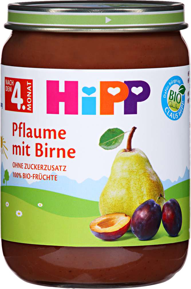 Abbildung des Sortimentsartikels Hipp Pflaume mit Birne 190g