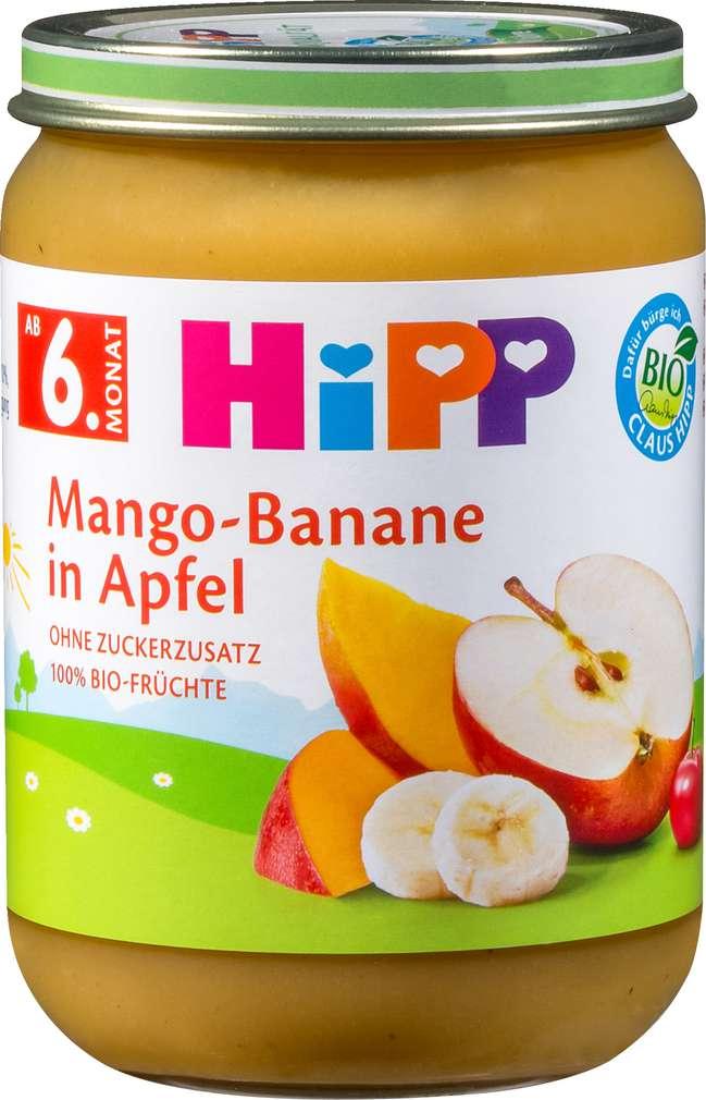 Abbildung des Sortimentsartikels Hipp Mango-Banane in Apfel 190g