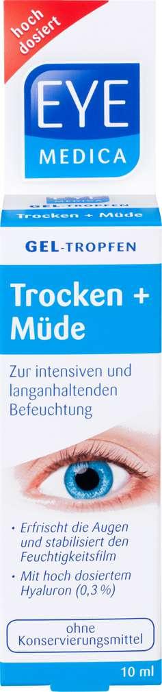 Abbildung des Sortimentsartikels EyeMedical Gel-Tropfen Trocken+Müde 10ml