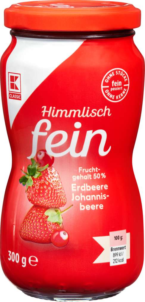 Abbildung des Sortimentsartikels K-Classic Himmlisch fein Erdbeere-Johannisbeere 300g