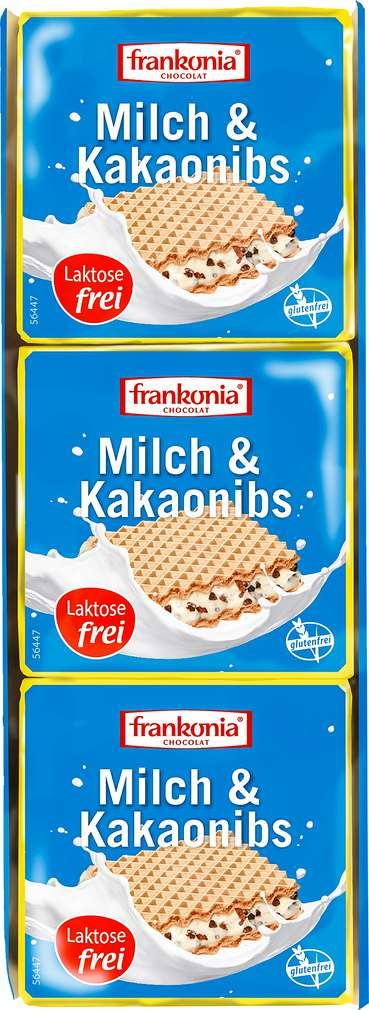 Abbildung des Sortimentsartikels Frankonia Chocolat Milch & Kakaominis 3x21g