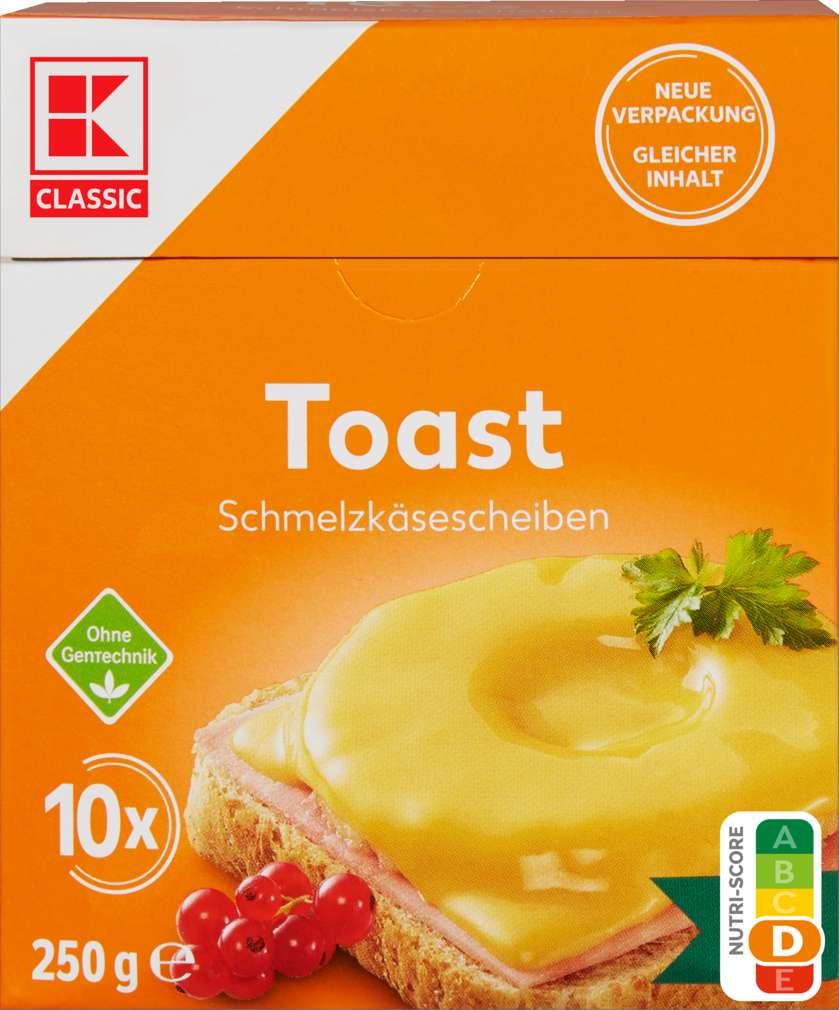 Abbildung des Sortimentsartikels K-Classic Toast Scheiben 35% Fett i.Tr. 250g