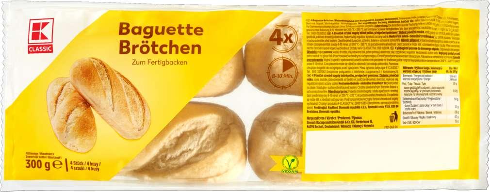 Abbildung des Sortimentsartikels K-Classic Baguette-Brötchen zum Aufbacken 4 Stück