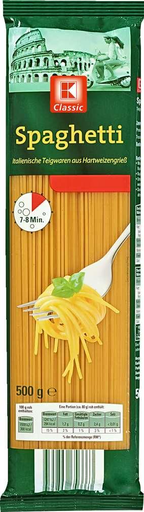 Abbildung des Sortimentsartikels K-Classic Spaghetti 500g