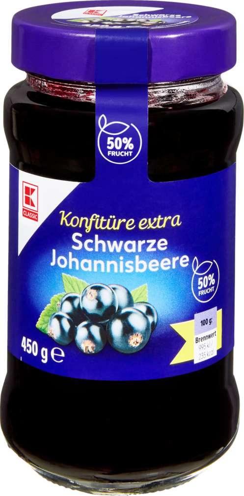 Abbildung des Sortimentsartikels K-Classic Konfitüre Schwarze Johannisbeere 450g