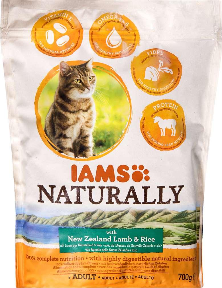 Abbildung des Sortimentsartikels IAMS Naturally Adult New Zealand Lamm und Reis 700g