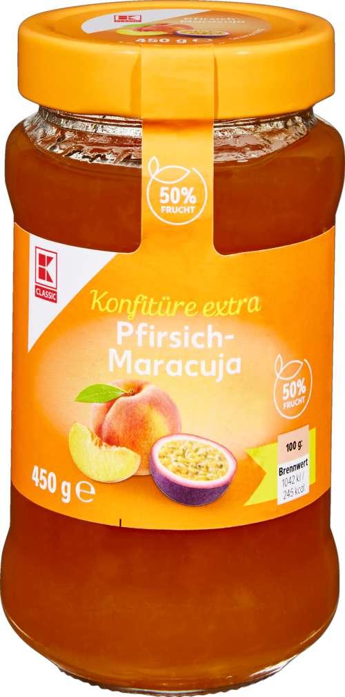 Abbildung des Sortimentsartikels K-Classic Konfitüre Pfirsich/Maracuja 450g
