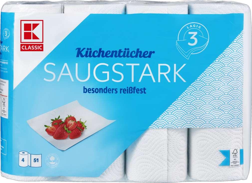 Abbildung des Sortimentsartikels K-Classic Küchenrollen 3-lagig 4x51 Blatt