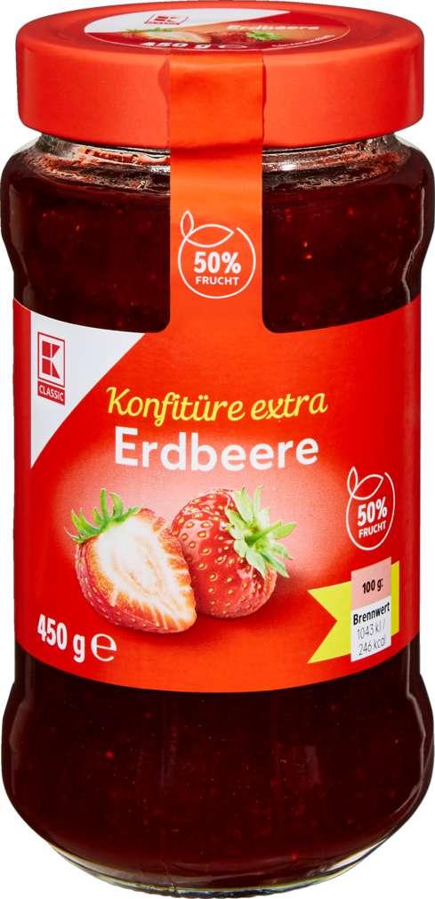 Abbildung des Sortimentsartikels K-Classic Konfitüre Erdbeere 450g