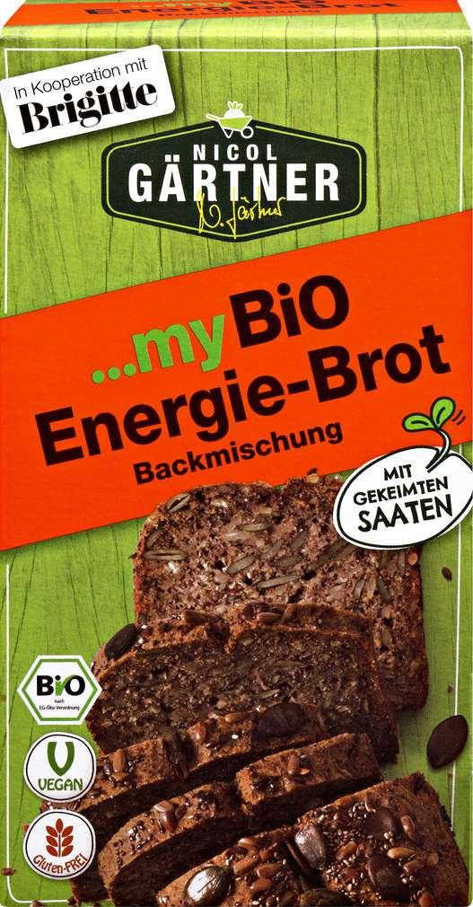 Abbildung des Sortimentsartikels Nicol Gärtner Bio-Brotbackmischung Energiebrot vegan 350g