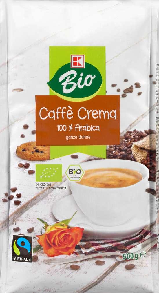 Abbildung des Sortimentsartikels K-Bio Ganze Bohne Kaffee 500g