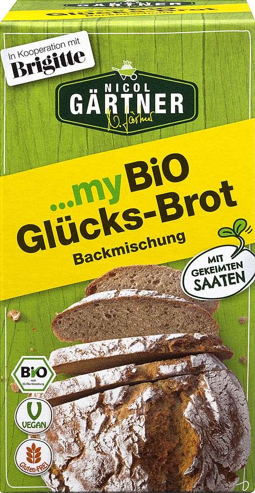 Abbildung des Sortimentsartikels Nicol Gärtner Bio-Brotbackmischung Glücks-Brot vegan 315g