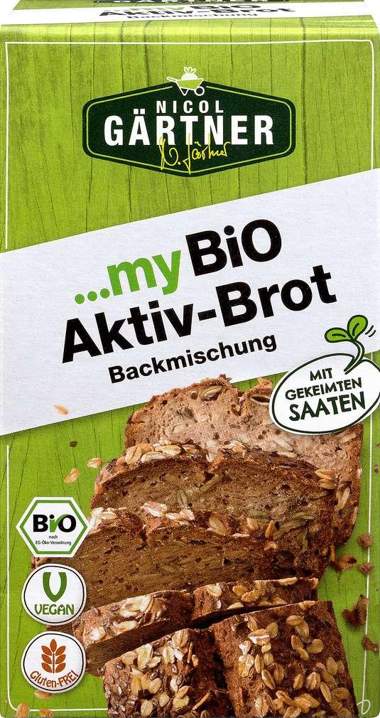 Abbildung des Sortimentsartikels Nicol Gärtner Bio-Brotbackmischung Aktivbrot vegan 330g