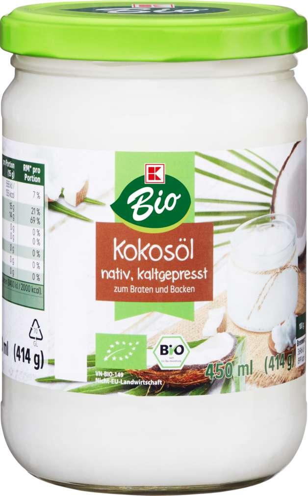 Abbildung des Sortimentsartikels K-Bio Kokosöl aus 1. Kaltpressung 450ml