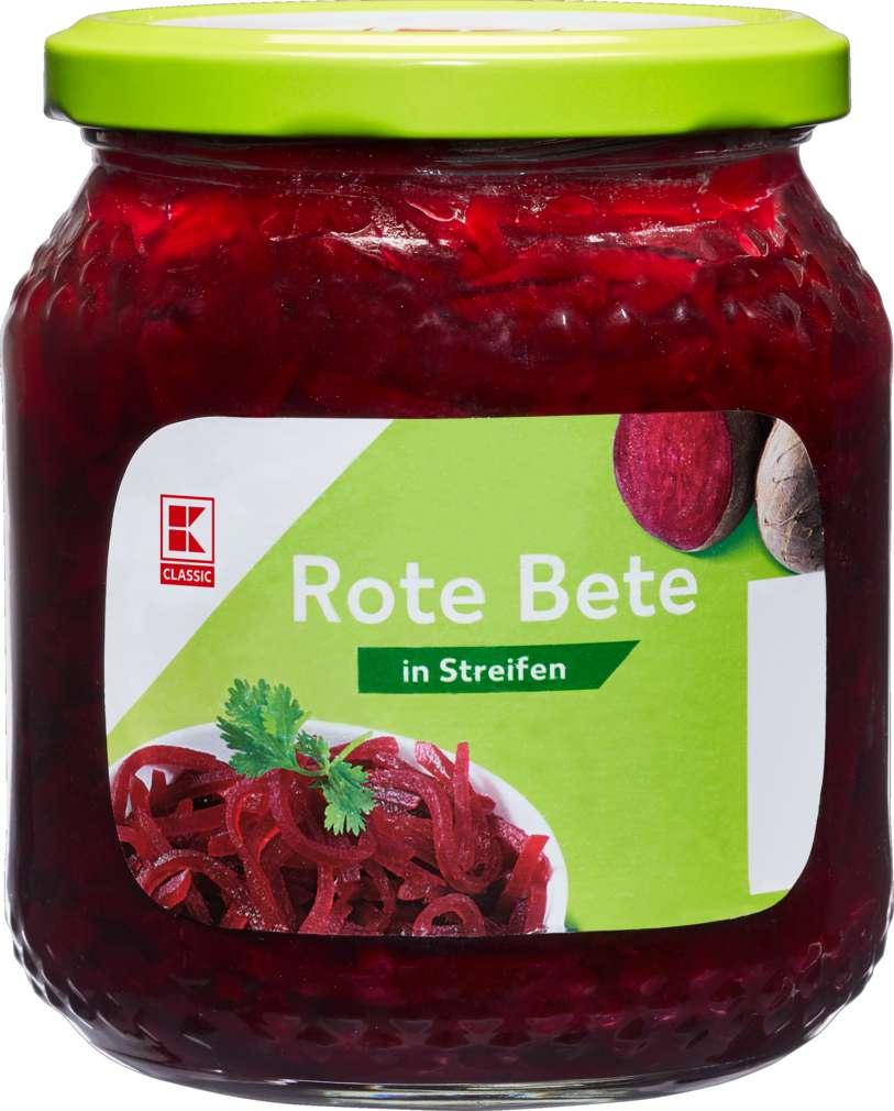 Abbildung des Sortimentsartikels K-Classic Rote Bete in Streifen 500ml