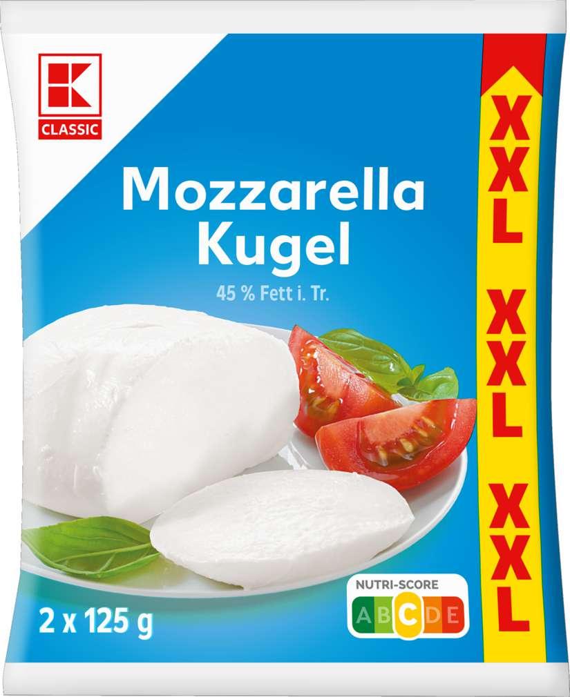 Abbildung des Sortimentsartikels K-Classic XXL Mozzarella Kugel 2 x 125g