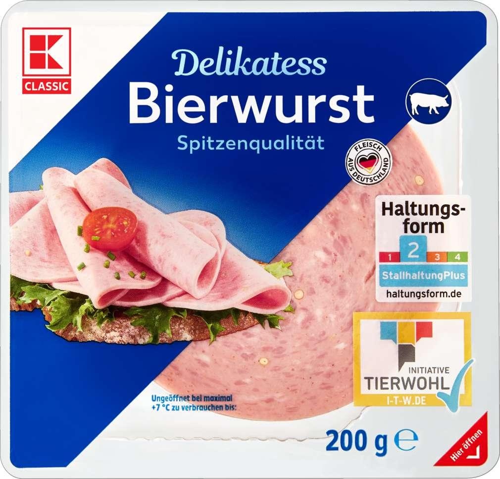 Abbildung des Sortimentsartikels K-Classic Delikatess Bierwurst 200g