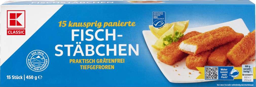 Abbildung des Sortimentsartikels K-Classic Fischstäbchen MSC-Qualität 450g