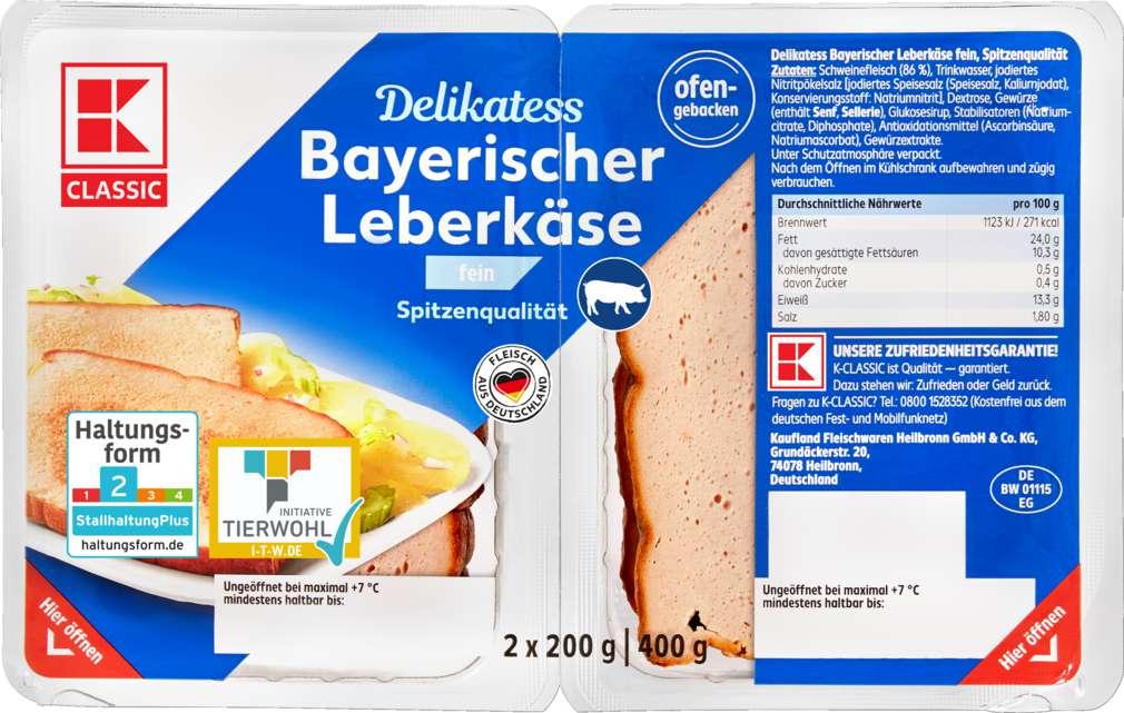 Abbildung des Sortimentsartikels K-Classic Leberkäse bayrische Art fein 400g