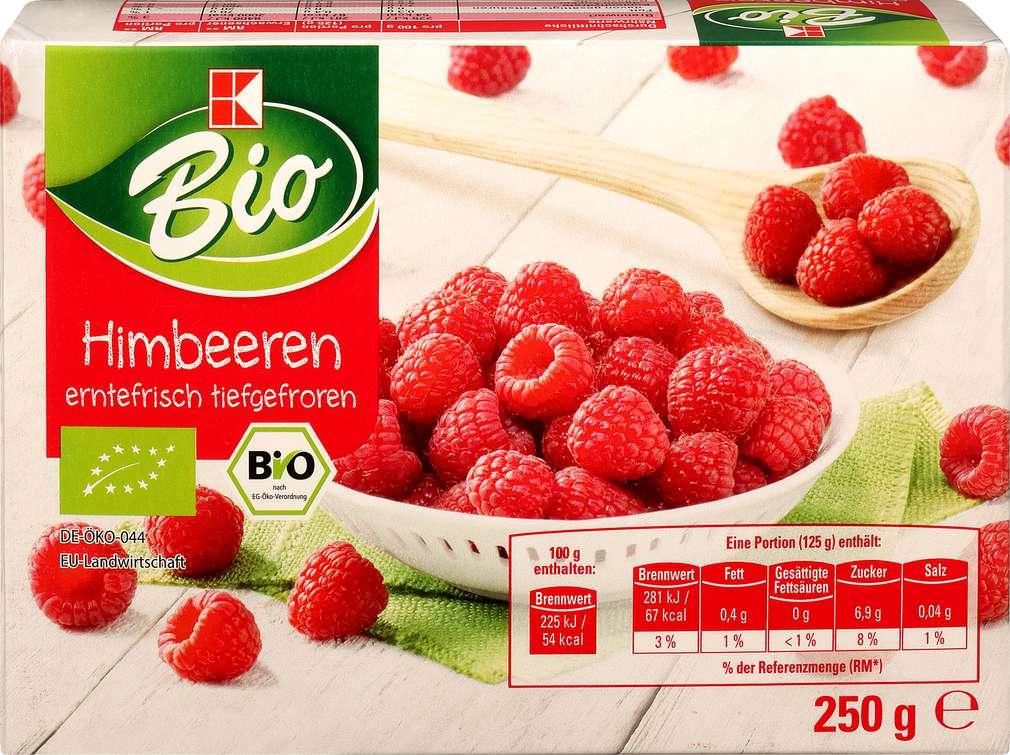 Abbildung des Sortimentsartikels K-Bio Himbeeren 250g