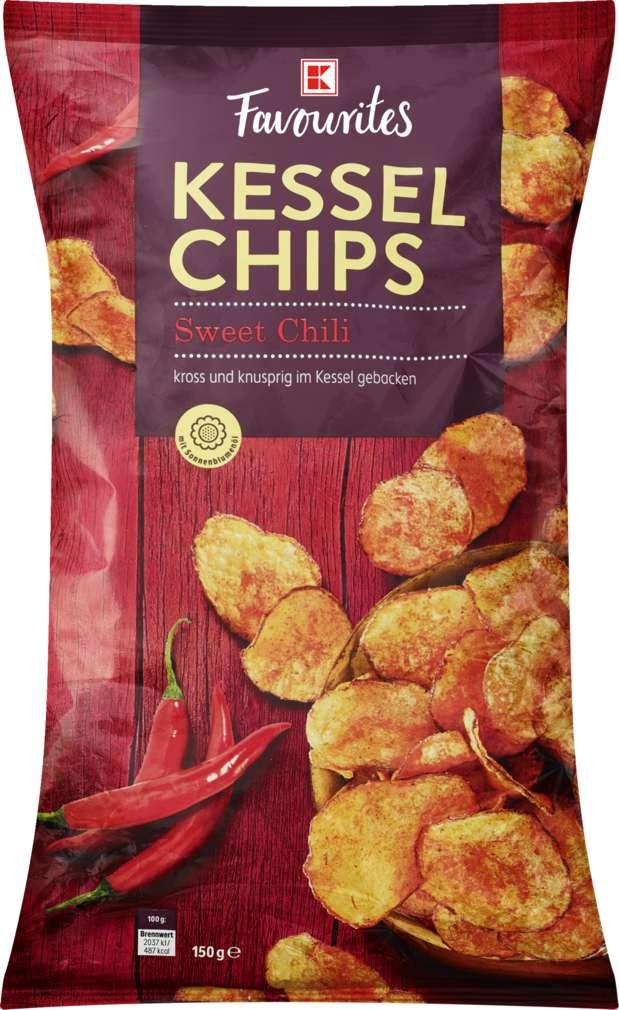 Abbildung des Sortimentsartikels K-Favourites Kesselchips Sweet Chili 150g