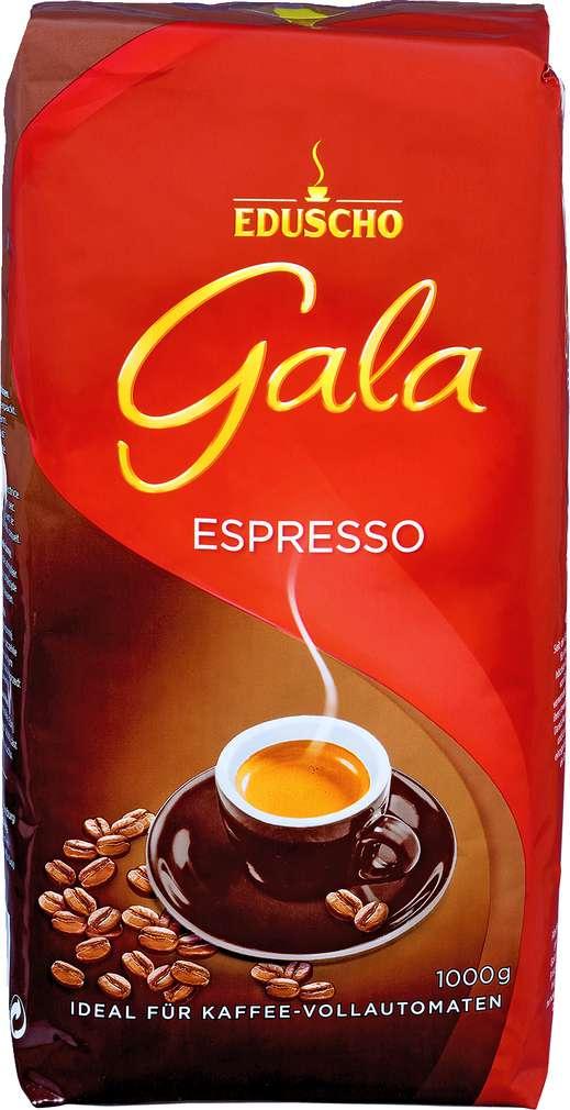 Abbildung des Sortimentsartikels Eduscho Gala Espresso ganze Bohnen 1000g