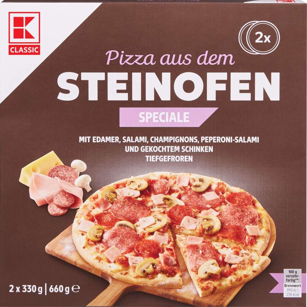 Abbildung des Sortimentsartikels K-Classic Steinofen-Pizza Speciale 2x330g