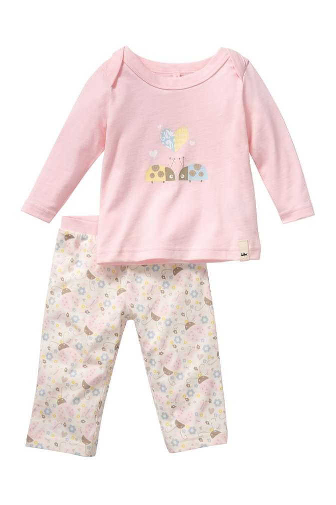 Abbildung des Sortimentsartikels Kuniboo Mädchen Baby Schlafanzug Größe 74/80 - 98/104 1 Set