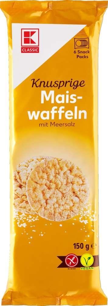 Abbildung des Sortimentsartikels K-Classic Maiswaffeln Snackpack 150g