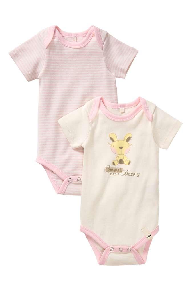 Abbildung des Sortimentsartikels Kuniboo Mädchen Baby Kurzarmbody Größe 50/56 - 98/104 1 Packung