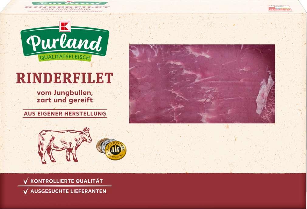 Abbildung des Sortimentsartikels K-Purland Rinderfilet am Stück vom Jungbullen