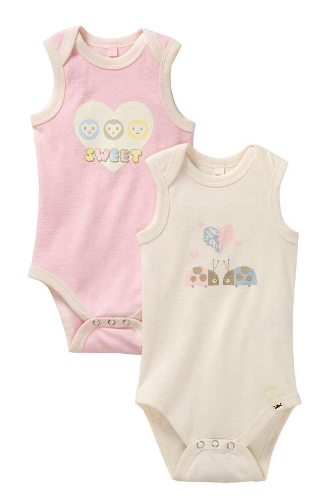 Abbildung des Sortimentsartikels Kuniboo Mädchen Baby Achselbody Größe 50/56 - 98/104 1 Packung