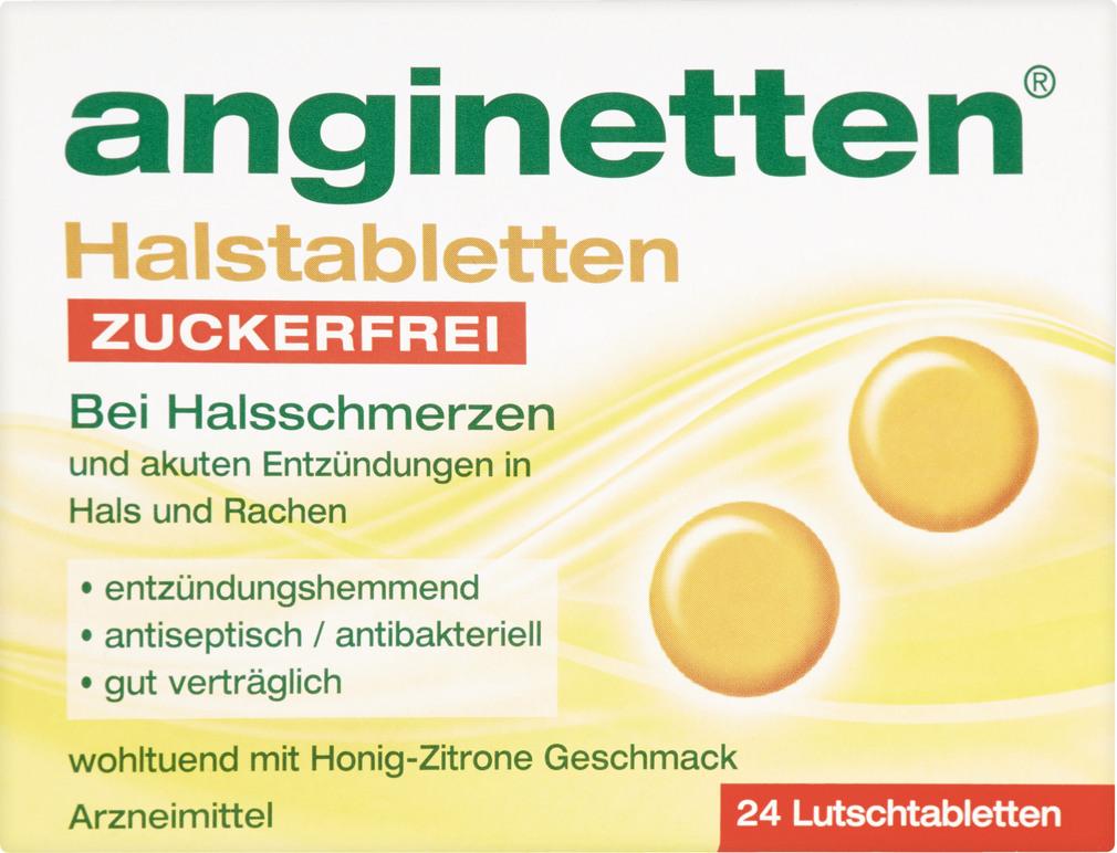 Abbildung des Sortimentsartikels Anginetten Halstablette ohne Zucker 24 Stück