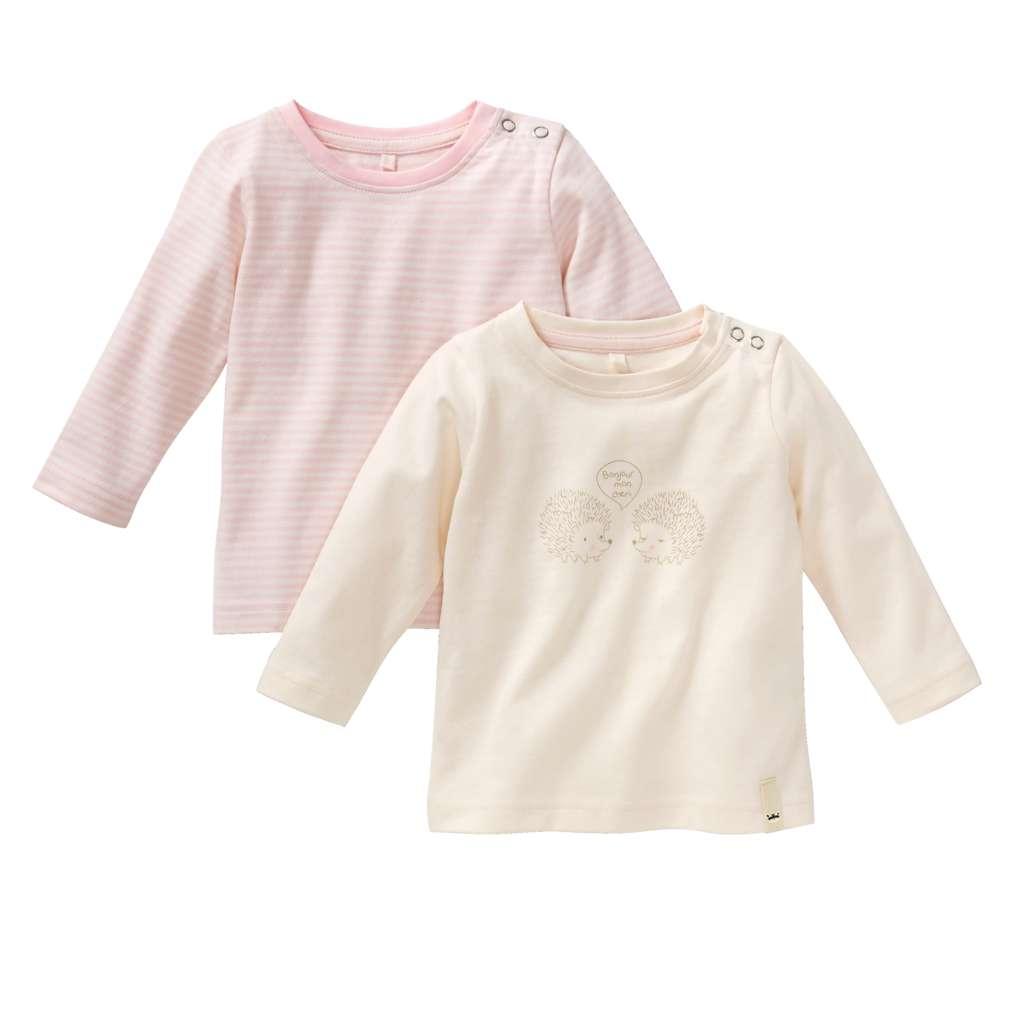 Abbildung des Sortimentsartikels Kuniboo Mädchen Baby Langarmshirt Größe 62/68 - 98/104 1 Stück