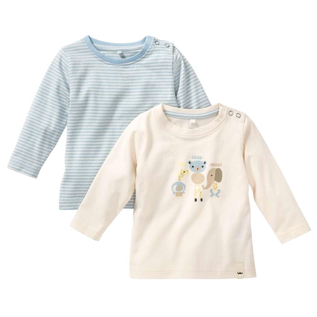 Abbildung des Sortimentsartikels Kuniboo Jungen Baby Langarmshirt Größe 62/68 - 98/104 1 Stück