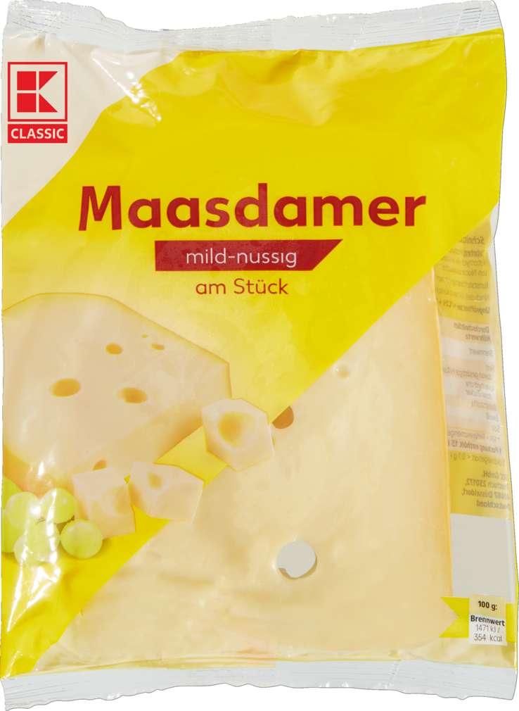 Abbildung des Sortimentsartikels K-Classic Maasdamer am Stück 400g