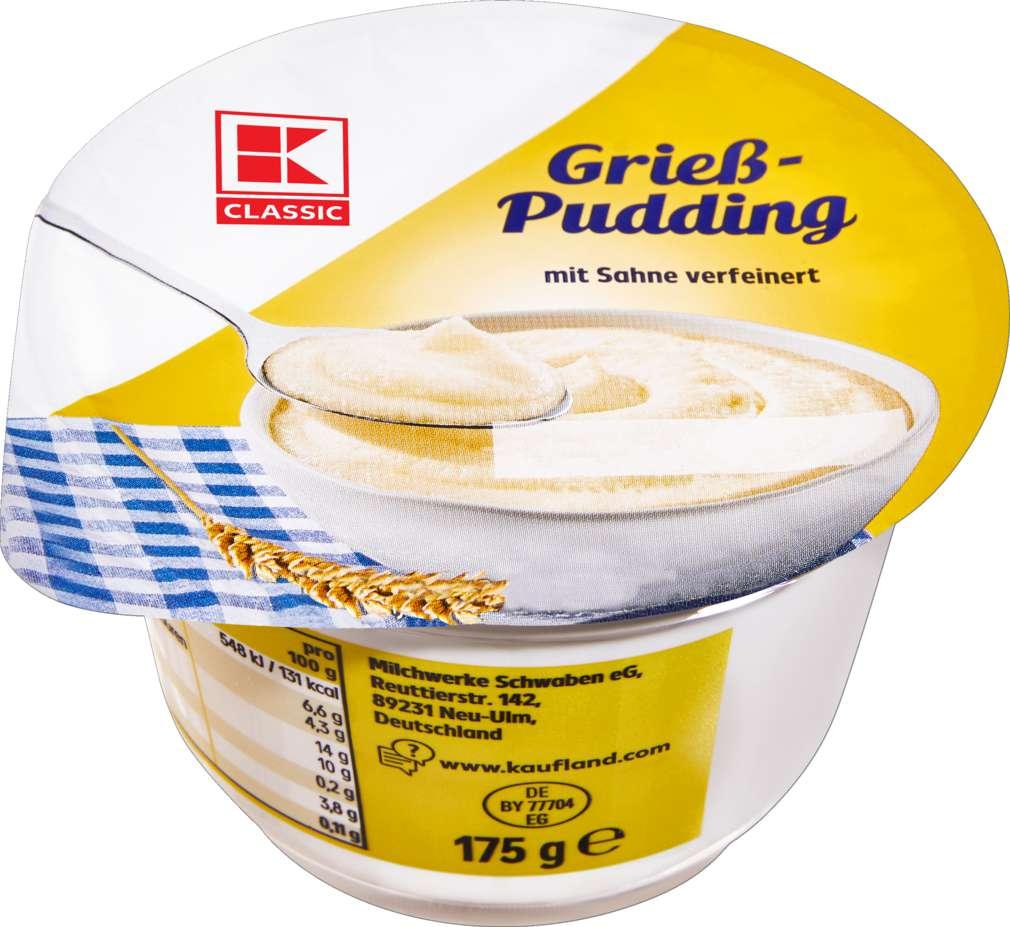 Abbildung des Sortimentsartikels K-Classic Grießpudding Pur 175g