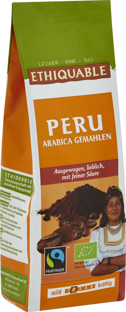 Abbildung des Sortimentsartikels Ethiquable Peru Arabica Gemahlen 250g
