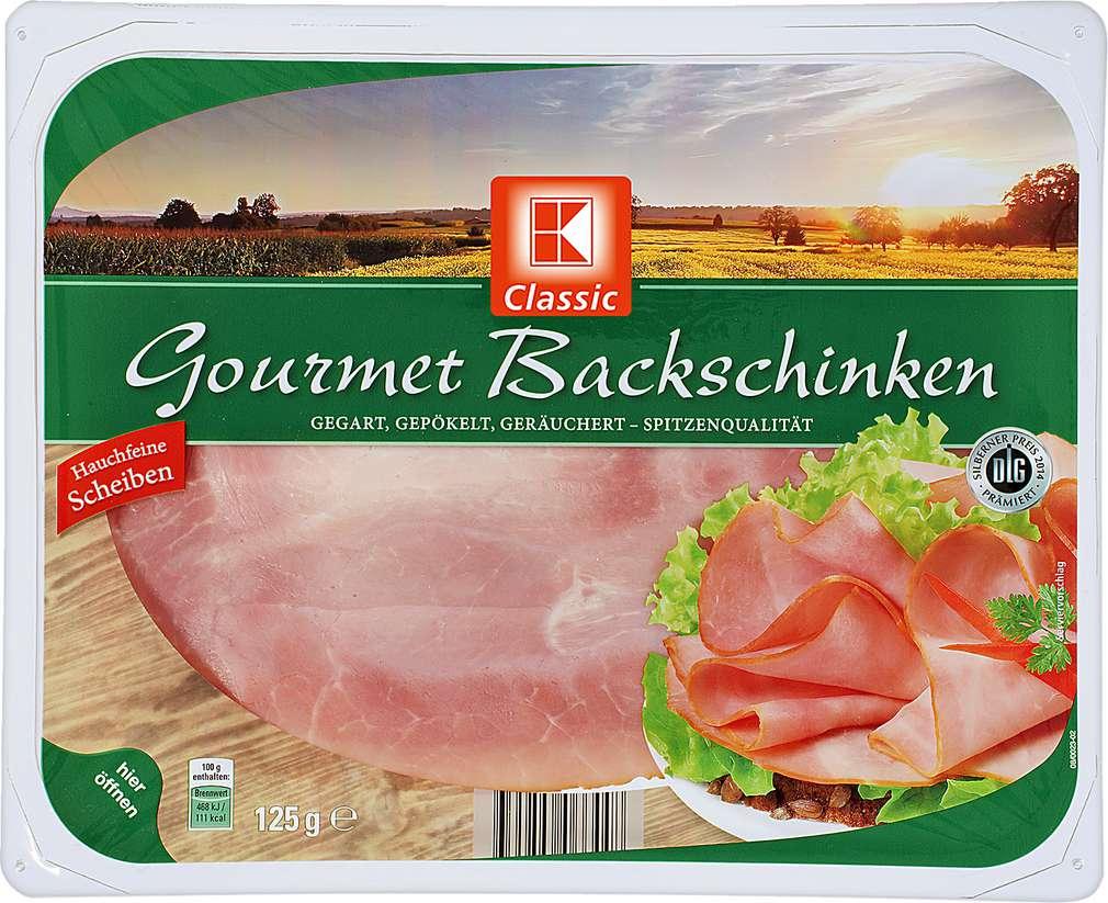 Abbildung des Sortimentsartikels K-Classic Gourmet Backschinken 125g