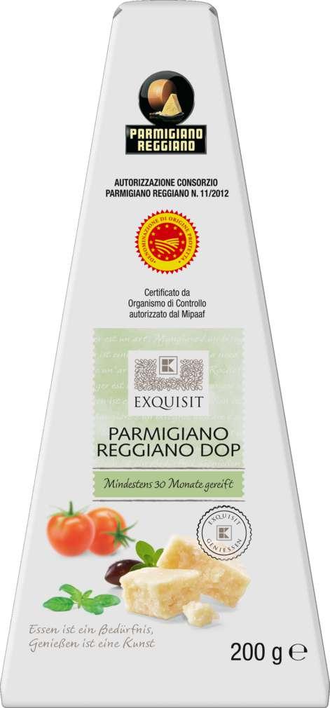 Abbildung des Sortimentsartikels Exquisit Parmigiano Reggiano DOP 200g