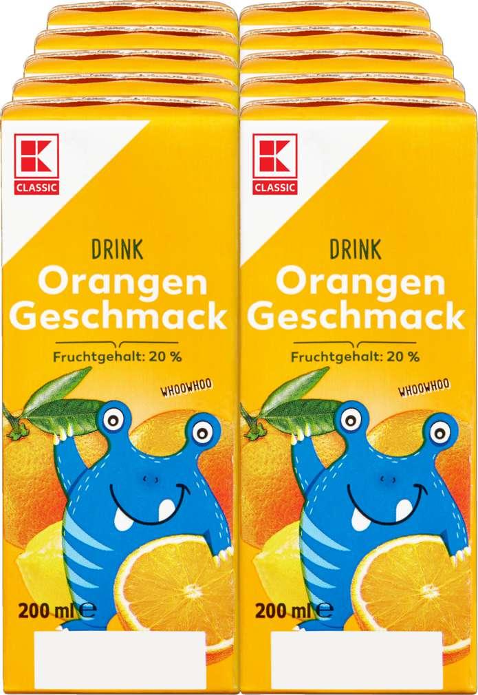 Abbildung des Sortimentsartikels K-Classic Orangen Drink 10x0,2l