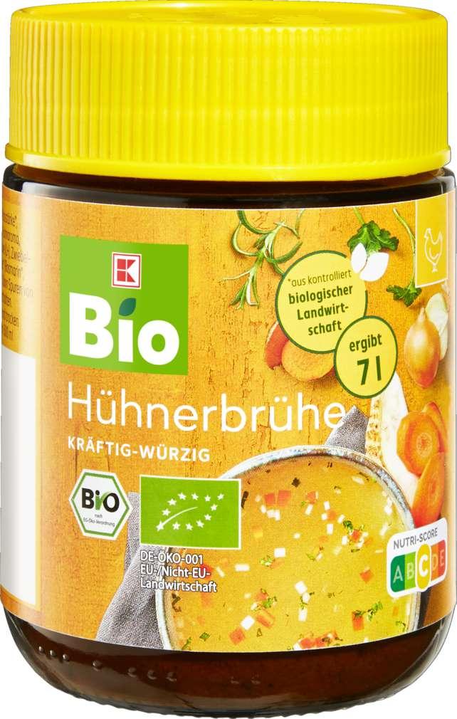 Abbildung des Sortimentsartikels K-Bio Hühnerbouillon im Glas 7L