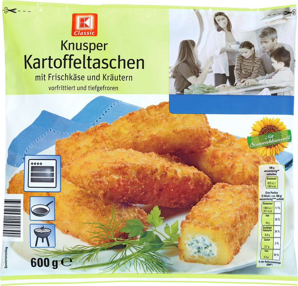 Abbildung des Sortimentsartikels K-Classic Kartoffeltaschen Frischkäse 600g