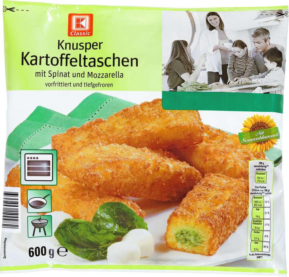 Abbildung des Sortimentsartikels K-Classic Kartoffeltaschen Spinat & Mozzarella 600g