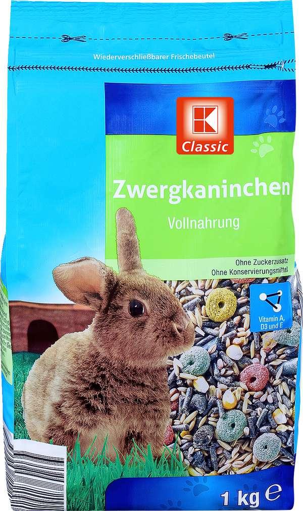 Abbildung des Sortimentsartikels K-Classic Zwergkaninchen Vollnahrung 1kg