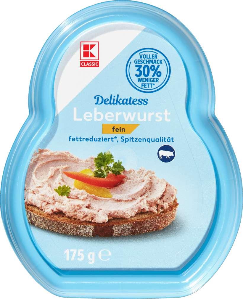 Abbildung des Sortimentsartikels K-Classic Leberwurst fettreduziert 175g