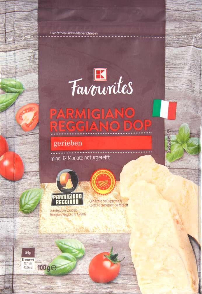 Abbildung des Sortimentsartikels K-Favourites Parmigiano Reggiano gerieben 100g