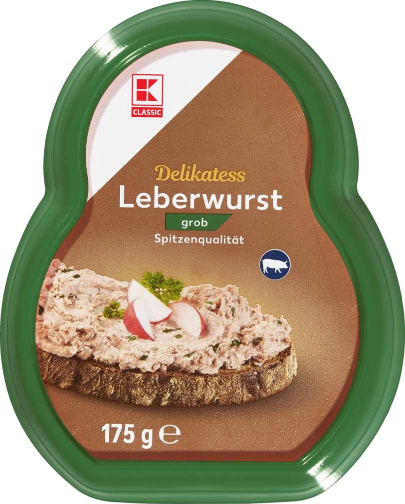 Abbildung des Sortimentsartikels K-Classic Leberwurst grob 175g